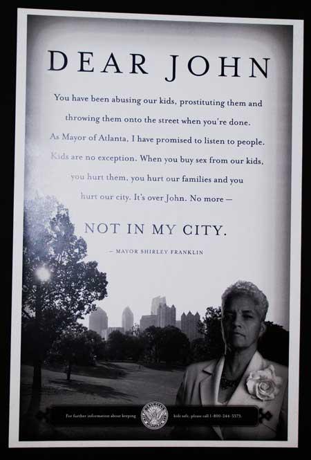 כרזה מקמפיין בעיר אטלנטה